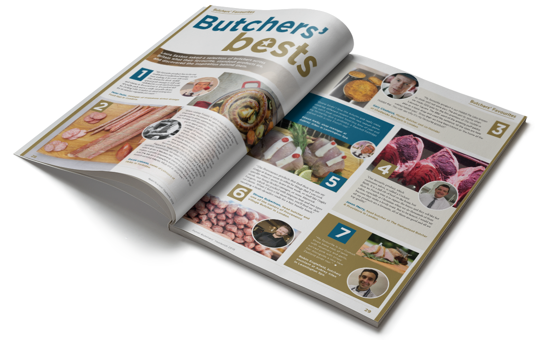 The Butcher open at a double page spread