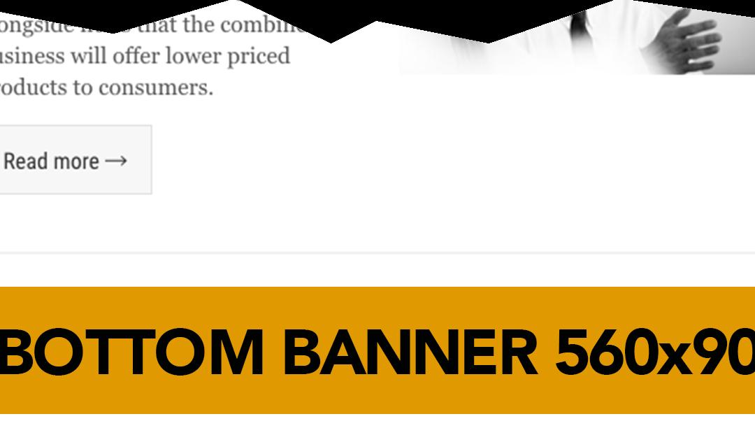 Bottom Banner on the e-newsletter