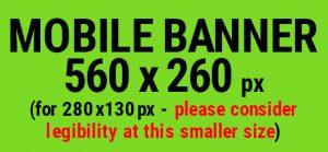 Mobile e-newsletter banner template